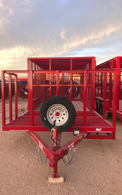 Portable waste management trailers